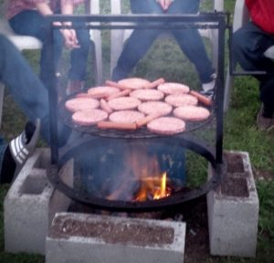 Camping with gabbys grill